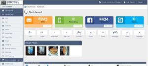 Smartphone keylogger dashboard